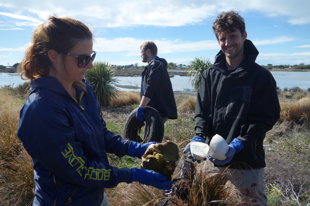 Puffballs at Bexley Wetland Clean with Canterbury Uni